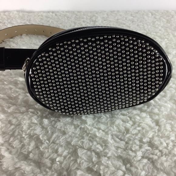 Steve Madden Handbags - Steve Madden Studded Belt Bag Patent Leather DA01